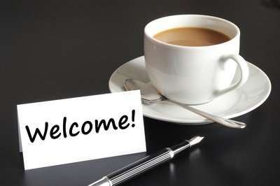 Physical Therapy welcome concept with cup of coffee